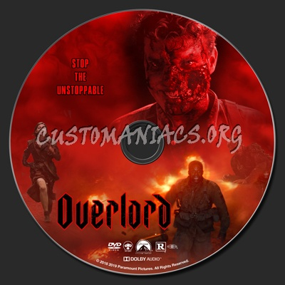 Overlord (2018) dvd label