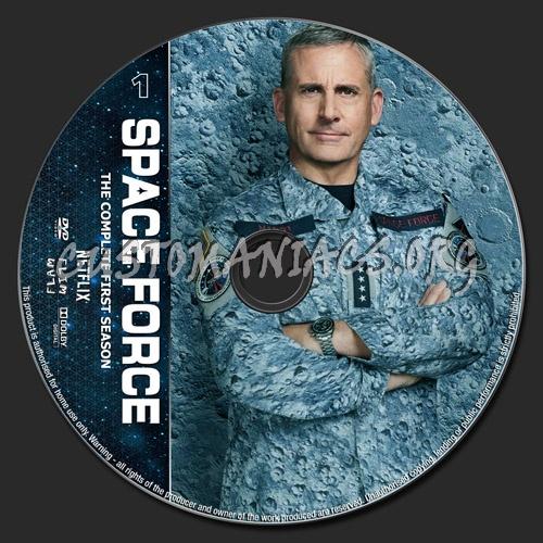 Space Force Season 1 dvd label