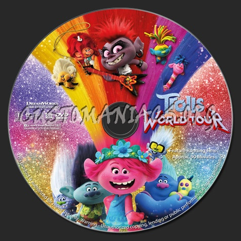 Trolls: World Tour dvd label