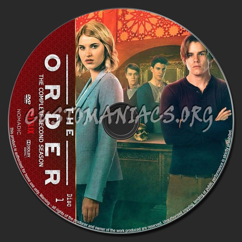 The Order Season 2 dvd label