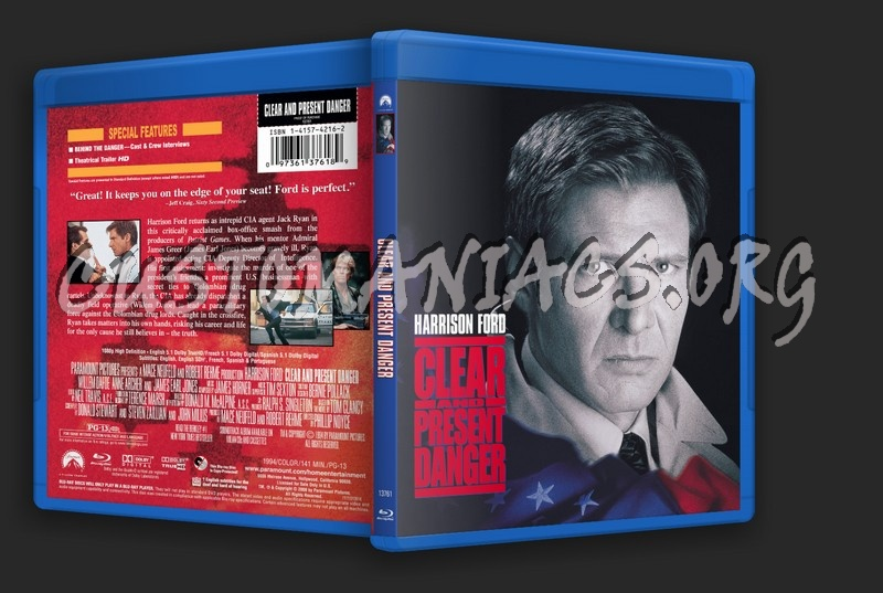 Clear and Present Danger blu-ray cover