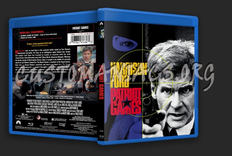 Patriot Games blu-ray cover