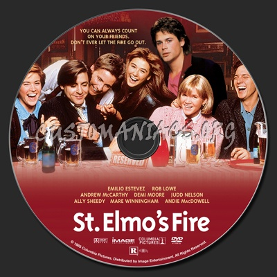 St. Elmo's Fire dvd label