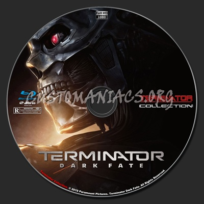 Terminator Dark Fate blu-ray label
