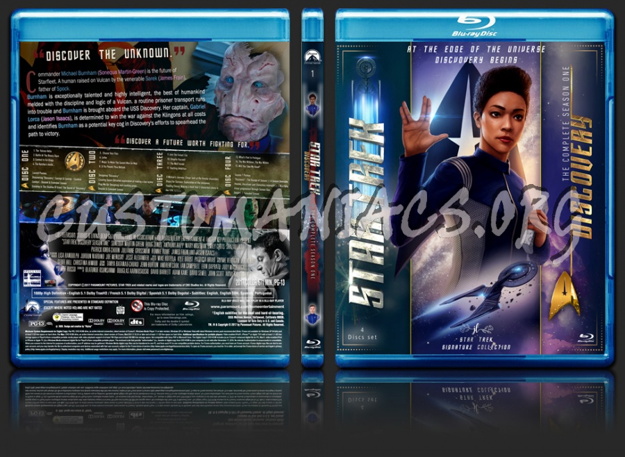 Star Trek Discovery Season 1 blu-ray cover