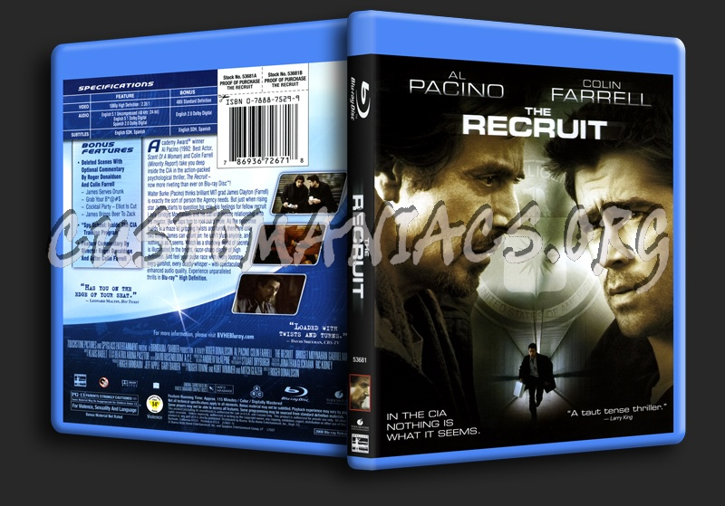 The Recruit blu-ray cover