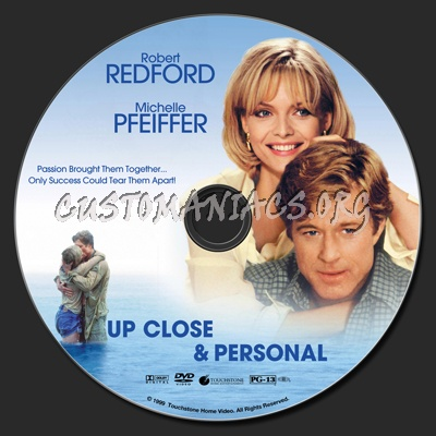 Up Close & Personal dvd label