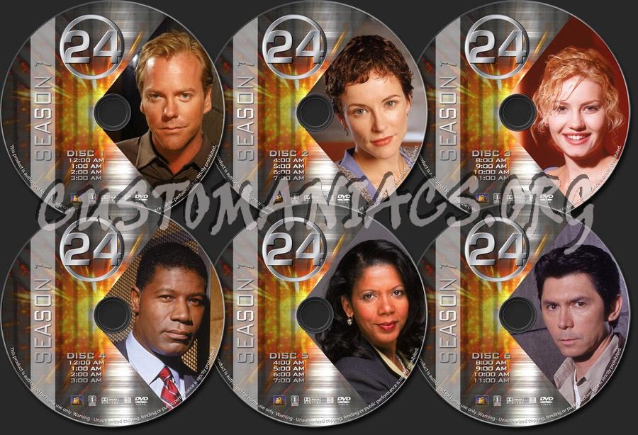 24 - Season 1 dvd label