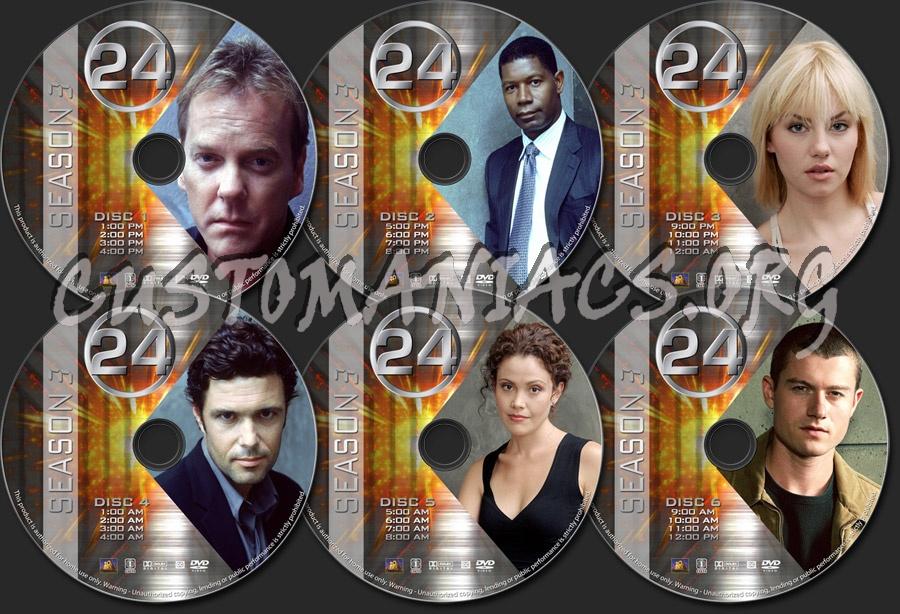 24 - Season 3 dvd label