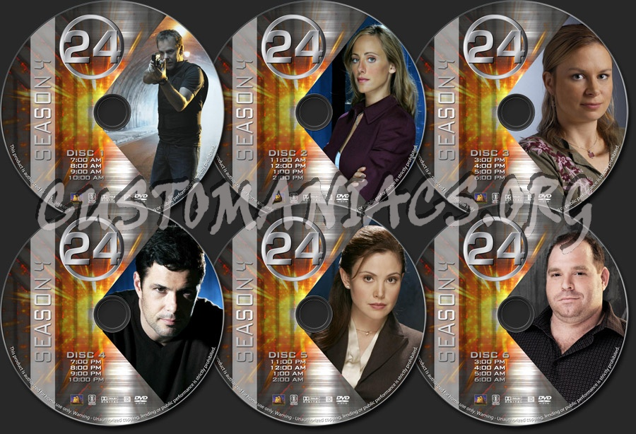 24 - Season 4 dvd label