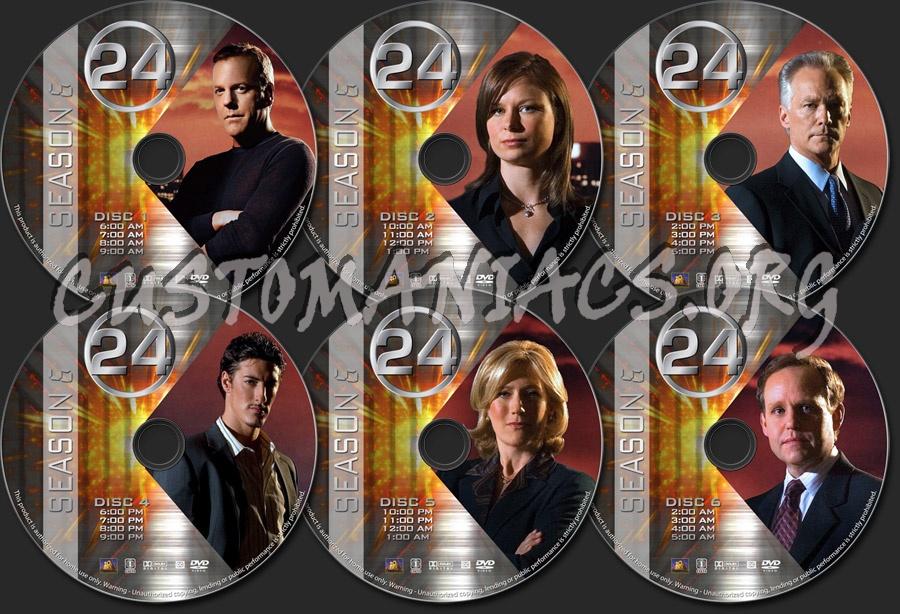 24 - Season 6 dvd label