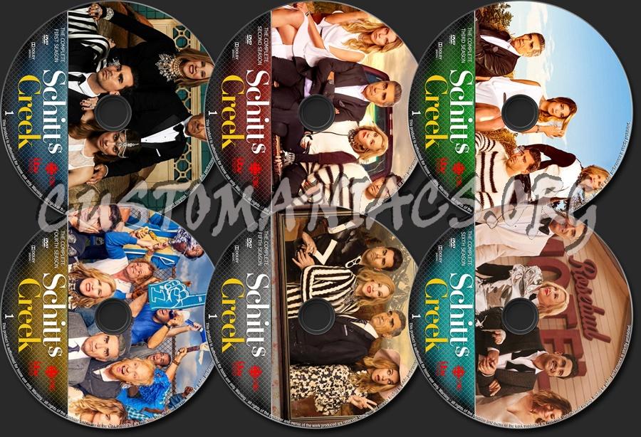 Schitts Creek Seasons 1-6 dvd label