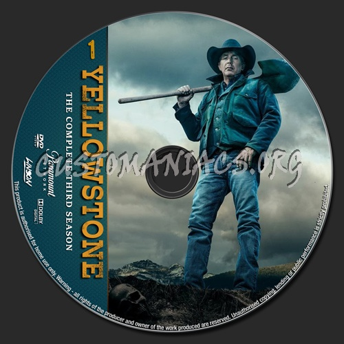 Yellowstone Season 3 dvd label