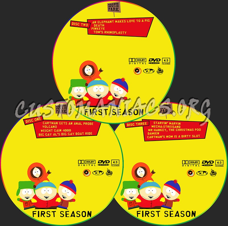 South Park Season 1 dvd label