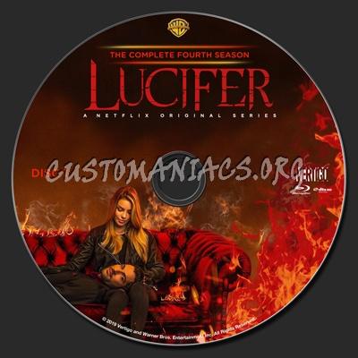 Lucifer Season 4 blu-ray label