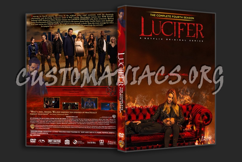 Lucifer Season 4 dvd cover