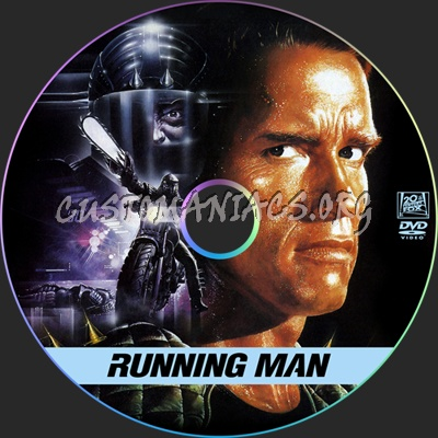 The Running Man dvd label
