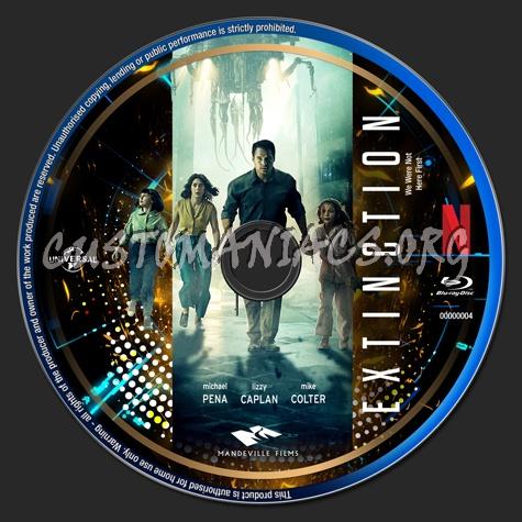 Extinction (2018) - Netflix Collection blu-ray label