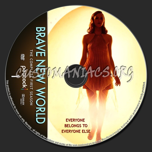 Brave New World Season 1 dvd label