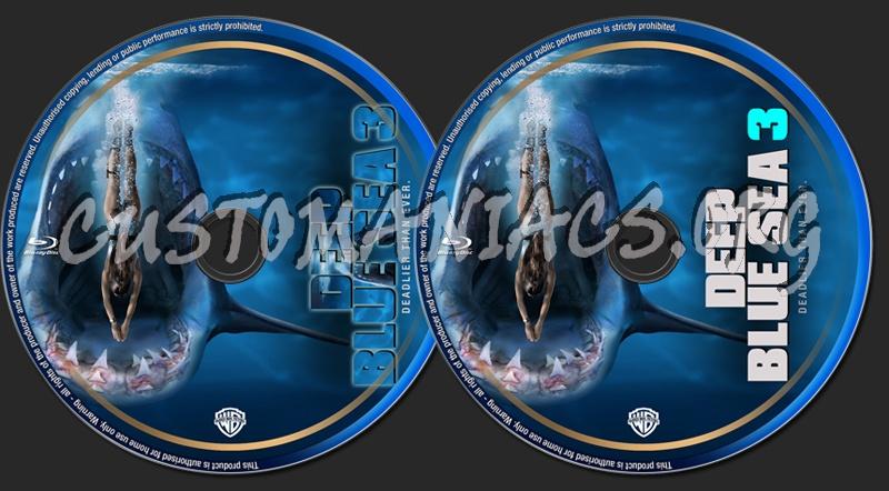 Deep Blue Sea 3 (2020) blu-ray label