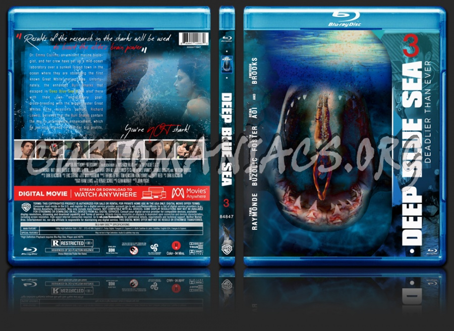 Deep Blue Sea 3 (2020) blu-ray cover