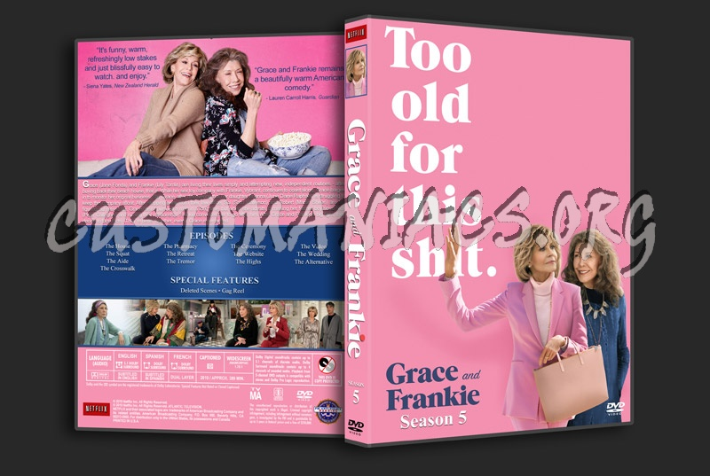 Grace and Frankie - Season 5 dvd cover
