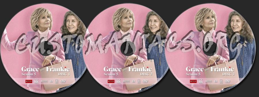 Grace and Frankie - Season 5 dvd label