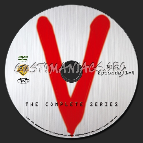 V The Complete Series dvd label