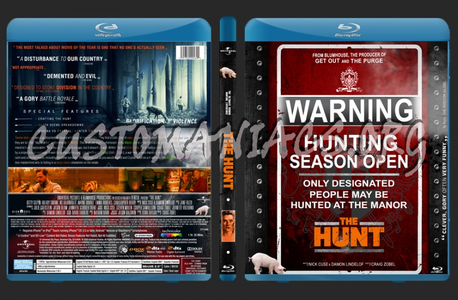 The Hunt (2020) blu-ray cover