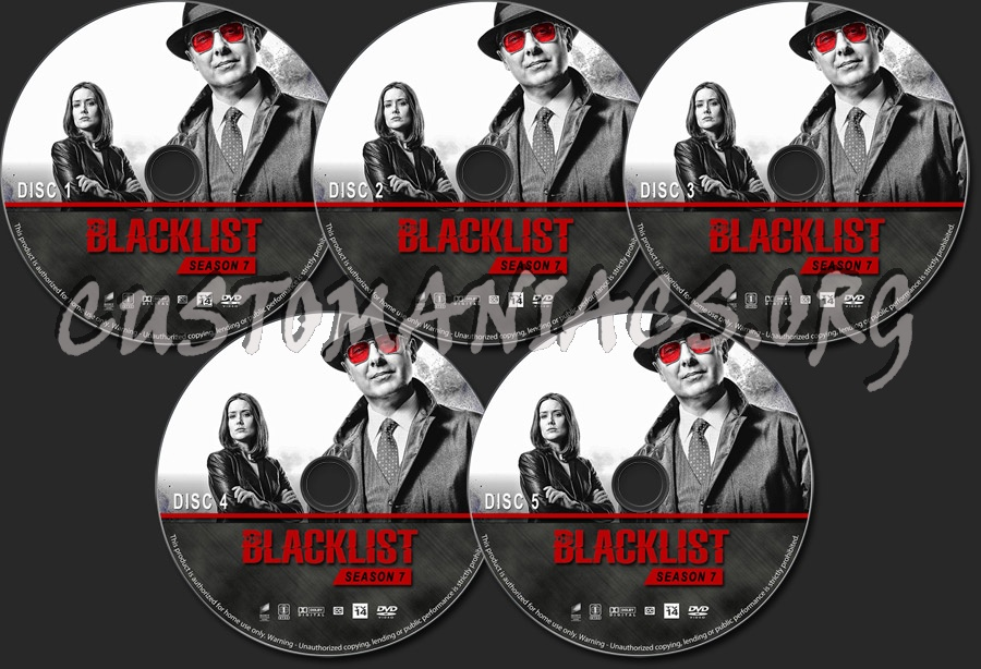 The Blacklist - Season 7 dvd label