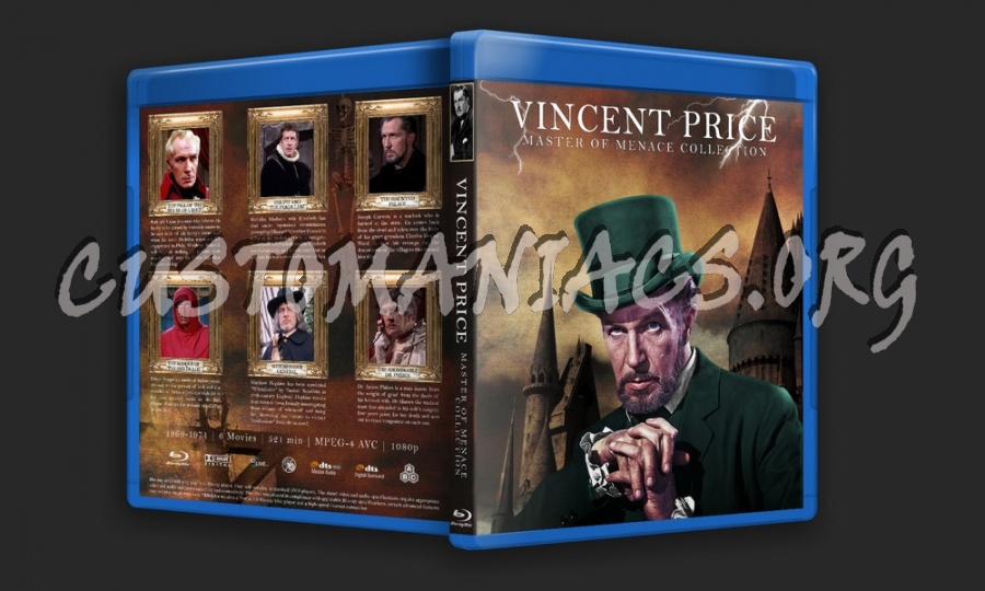 Vincent Price Collection - Master of Menace & Six Gothic Tales blu-ray cover