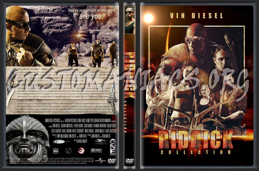 Riddick Collection dvd cover