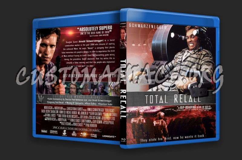 Total Recall 1990 blu-ray cover