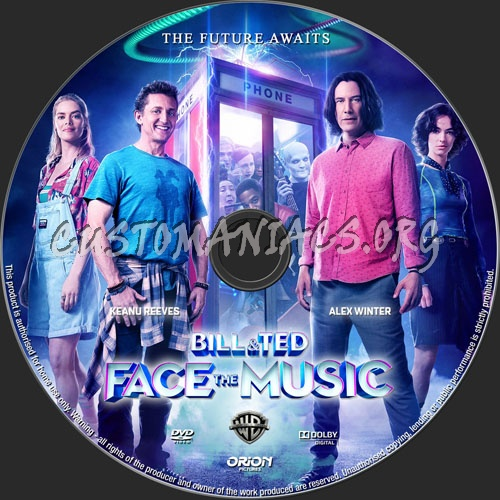 Bill & Ted Face The Music dvd label