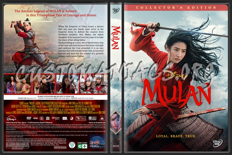Mulan (2020) dvd cover