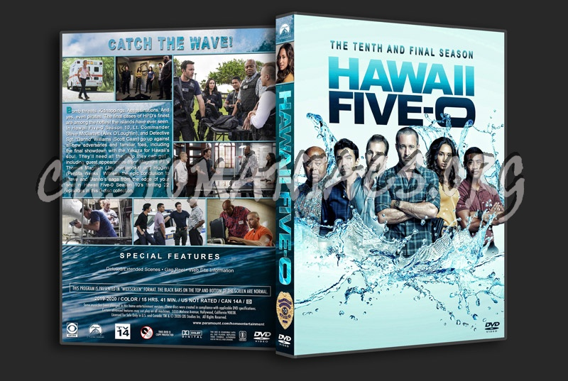 Hawaii Five-O - Season 10 dvd cover