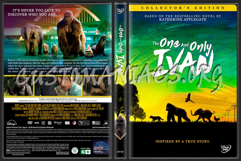 The One and Only Ivan (2020) dvd cover