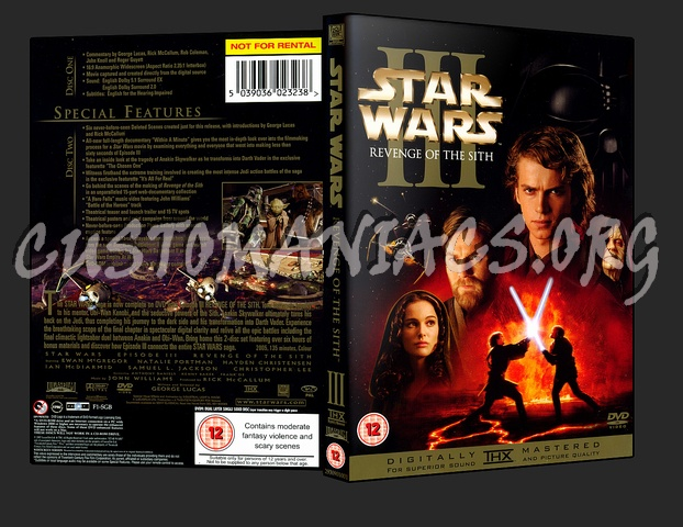 Star Wars Iii Revenge Of The Sith Dvd Cover Dvd Covers Labels By Customaniacs Id 10463 Free Download Highres Dvd Cover