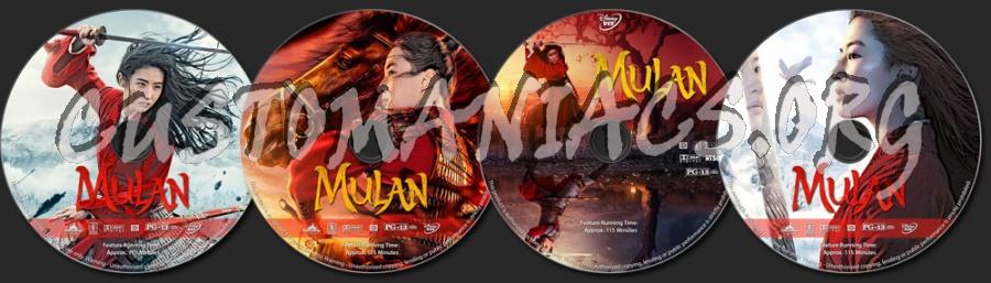 Mulan (2020) dvd label