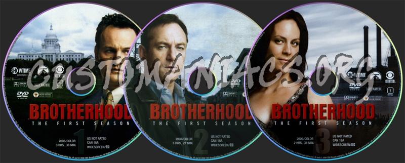 Brotherhood Season 1 dvd label