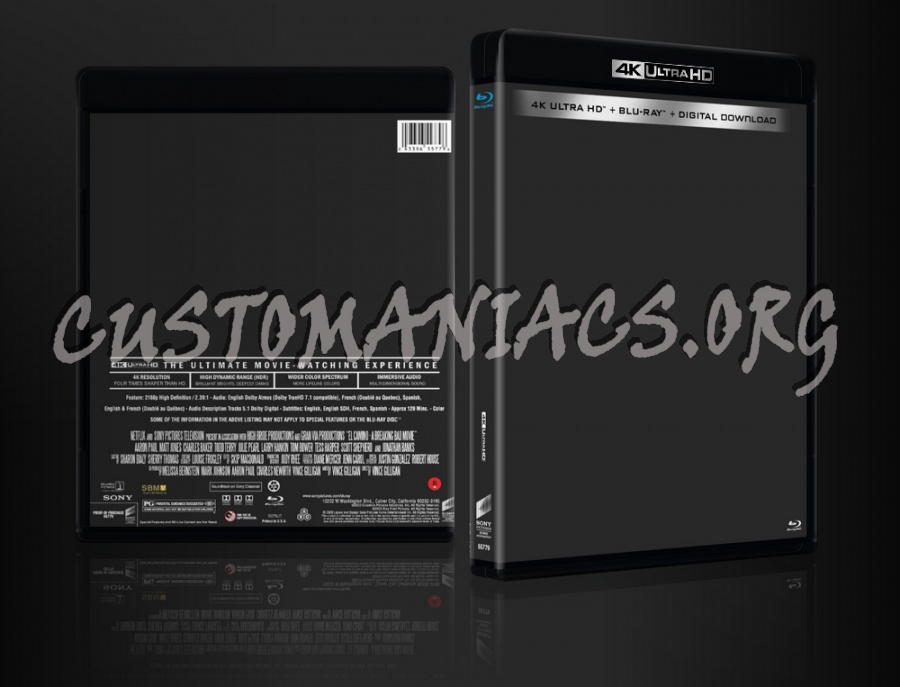 Sony - Columbia Picture 4k UHD Blu-ray Template dvd label