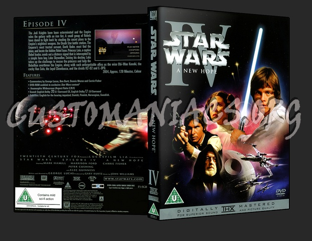 Star Wars IV A New Hope dvd cover