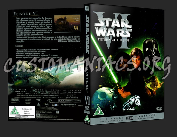 Star Wars Vi Return Of The Jedi Dvd Cover Dvd Covers Labels By Customaniacs Id 10465 Free Download Highres Dvd Cover