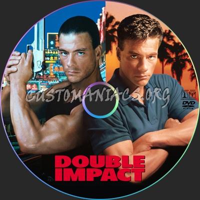 Double Impact dvd label