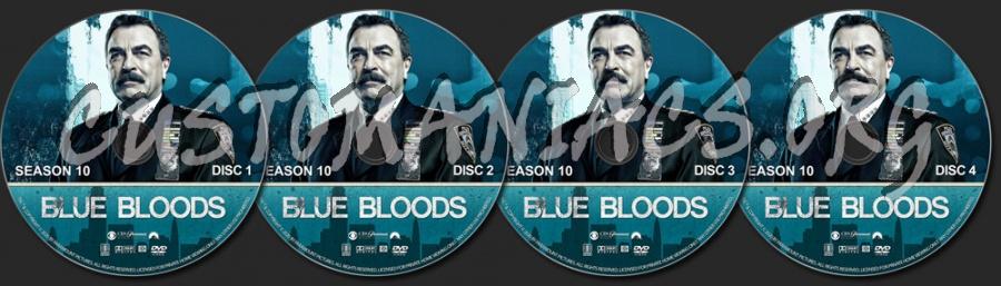 Blue Bloods - Season 10 dvd label