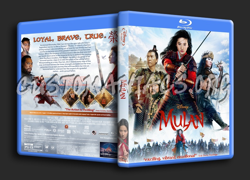 Mulan (2020) blu-ray cover