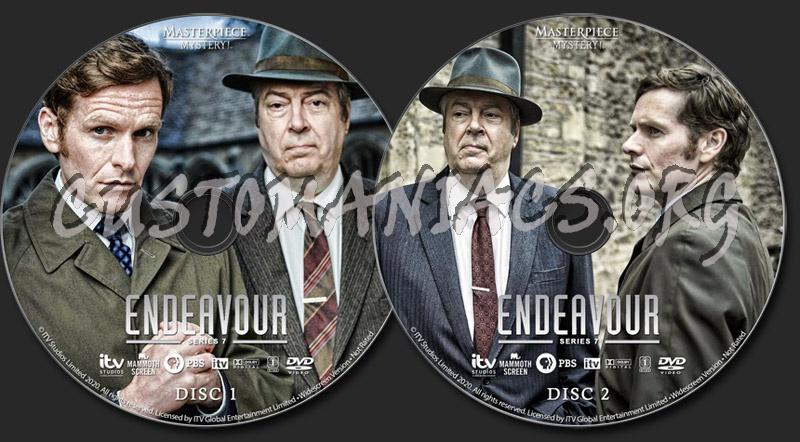 Endeavour - Series 7 dvd label