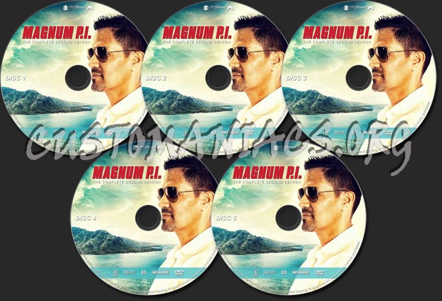 Magnum P.I. - Season 2 dvd label