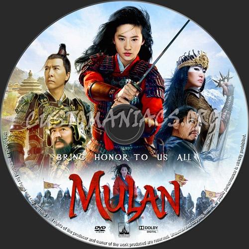 Mulan dvd label