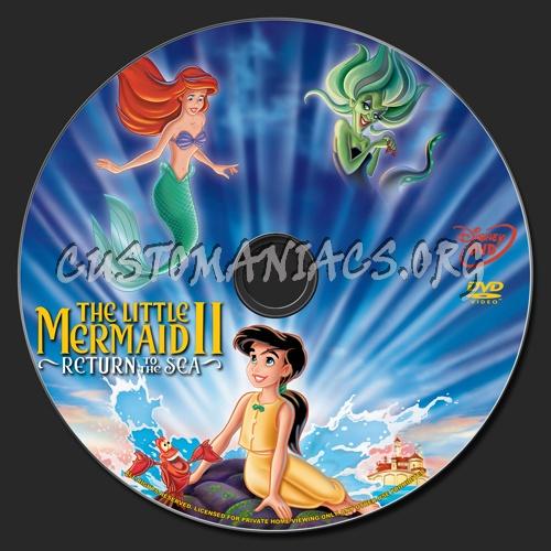The Little Mermaid 2 dvd label